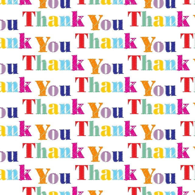 Thanks thank you message, backgrounds textures.