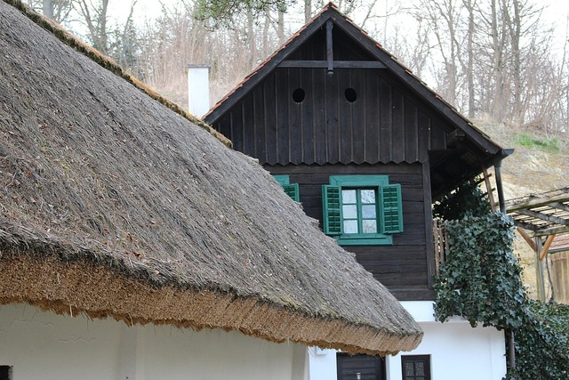 Thatched roof straw roof straw, travel vacation.