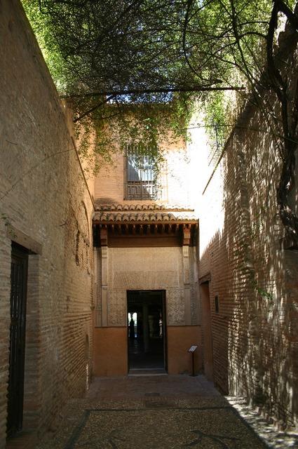 The alhambra castle granada, transportation traffic.