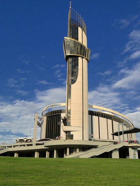 The basilica of the divine mercy architecture malopolska, architecture buildings.