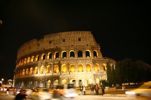 The colosseum roman city, architecture buildings.