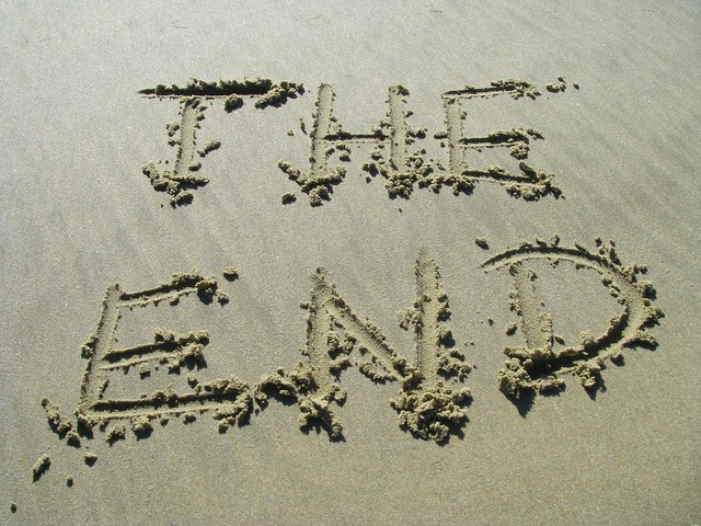 The end sand end, travel vacation.