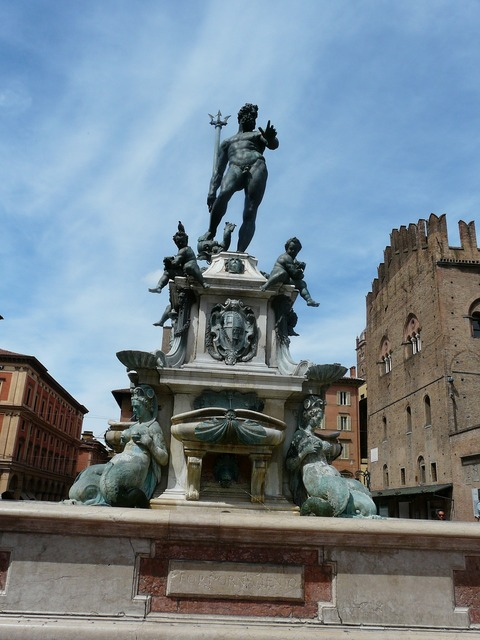 The fountain of neptune bologna italy, places monuments.