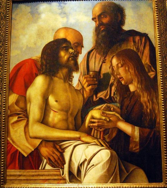 The framework painting giovanni bellini, religion.