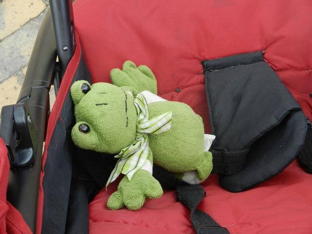 The frog żabka the mascot, people.