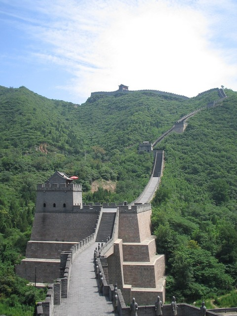 The great wall of china wonder of the world beijing.