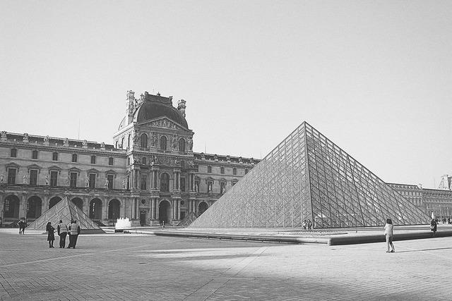 The louvre paris france, architecture buildings.