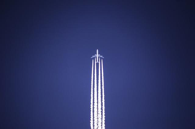 The plane sky flying.