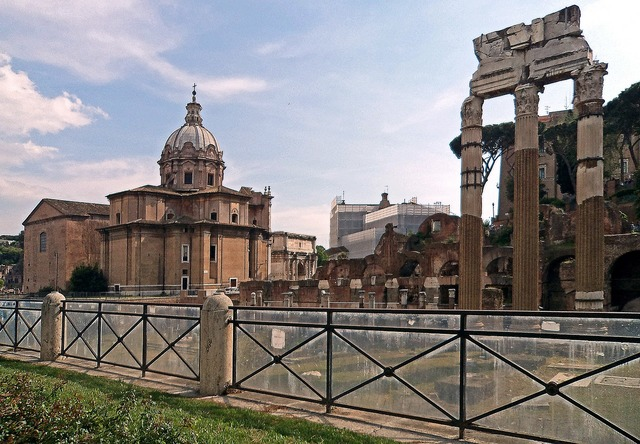 The roman forum architecture old buildings, architecture buildings.