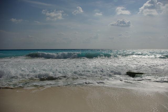 The sea waves beach, travel vacation.