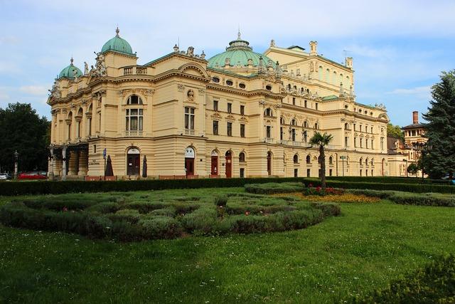 The theater juliusz slovak in krakow culture, architecture buildings.