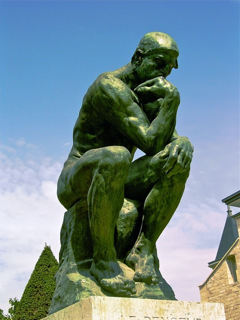 The thinker august rodin 1881-1882.