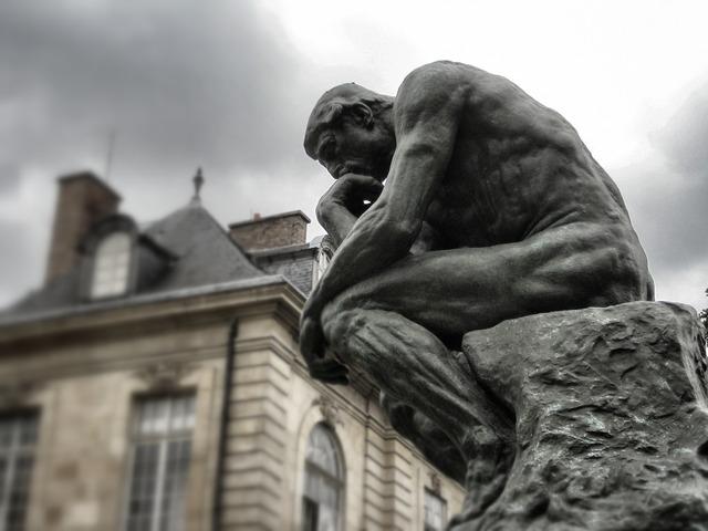The thinker rodin paris.