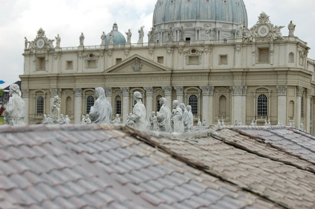 The vatican building miniature, architecture buildings.