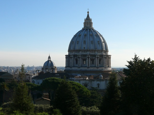 The vatican cathedral of st peter the vatican gardens, religion.