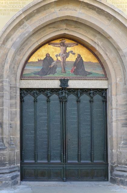These door castle church lutherstadt, religion.