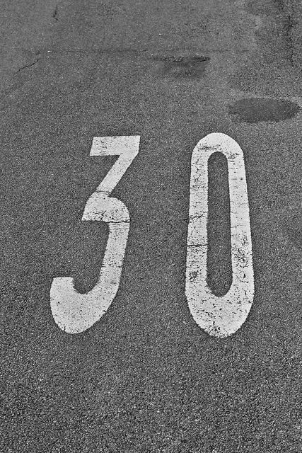 Thirty number speed, transportation traffic.