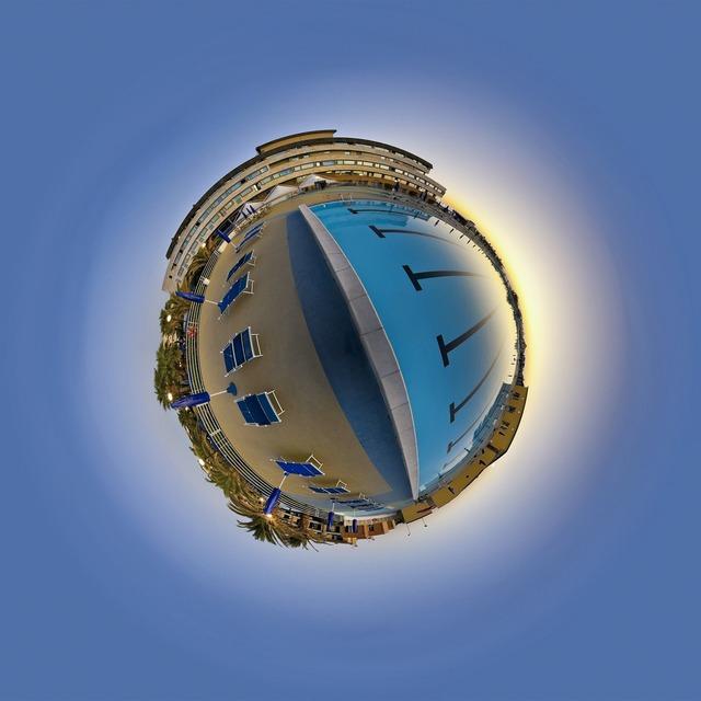 Three hundred sixty world circle, travel vacation.
