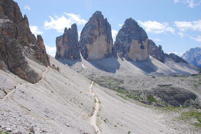 Three peaks lavaredo mountain, nature landscapes.