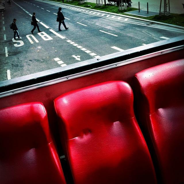 Three red sit, transportation traffic.