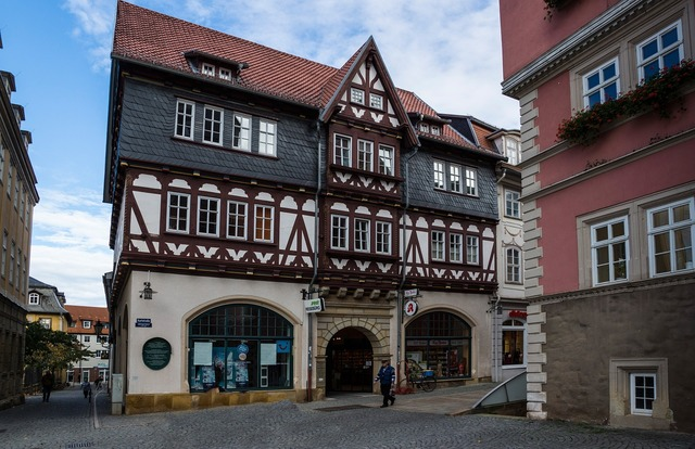 Thuringia germany eisenach market, architecture buildings.