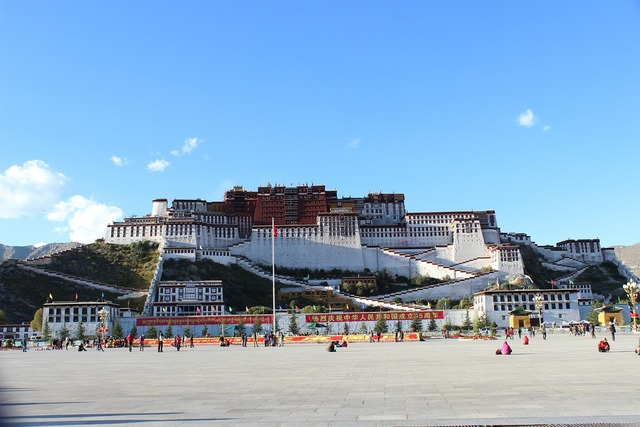 Tibet the potala palace china, architecture buildings.