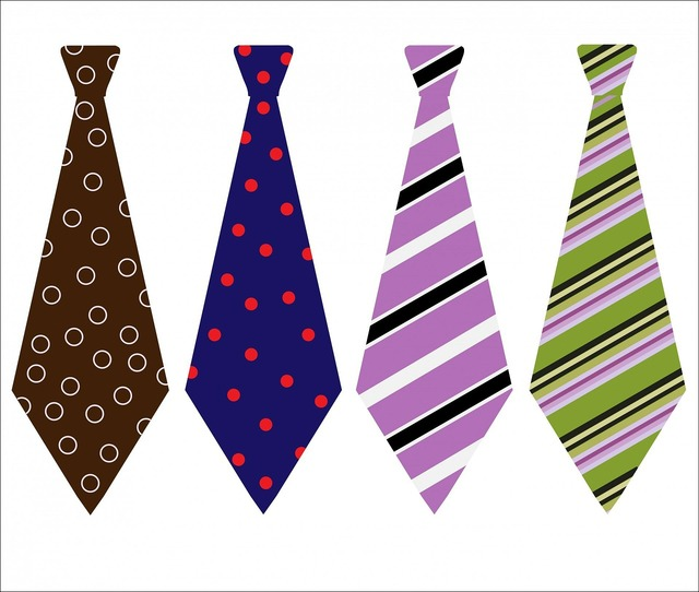 Tie ties patterned.