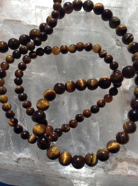 Tiger's eye beads gemstone gem.