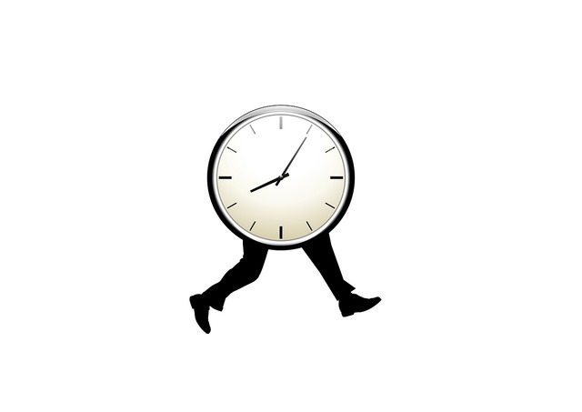 Time clock legs.