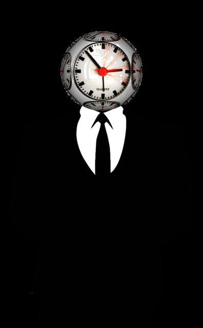 Time clock man, people.