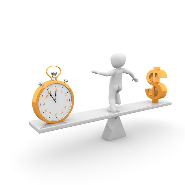 Time money horizontal, business finance.