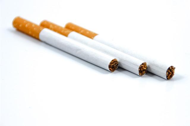 Tobacco cigarette white.