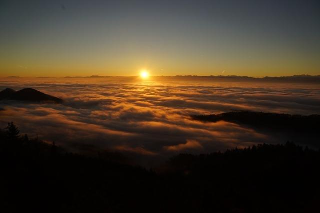 Tödi sunrise alpine, nature landscapes.