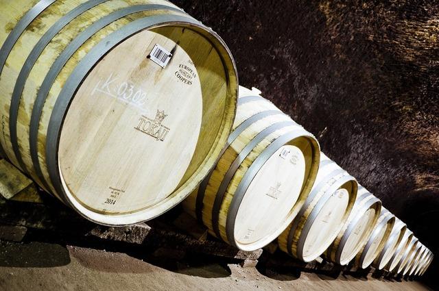 Tokaj barrel cellar.