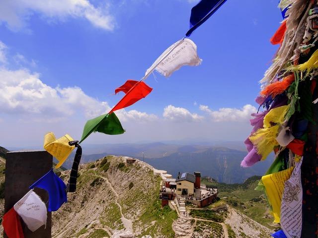 Top flags colors, nature landscapes.