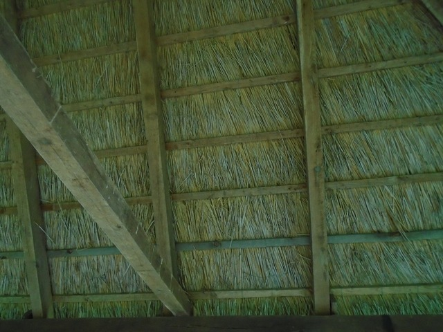 Top straw natural material, architecture buildings.