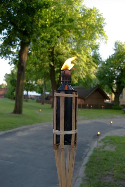 Torch fire way.