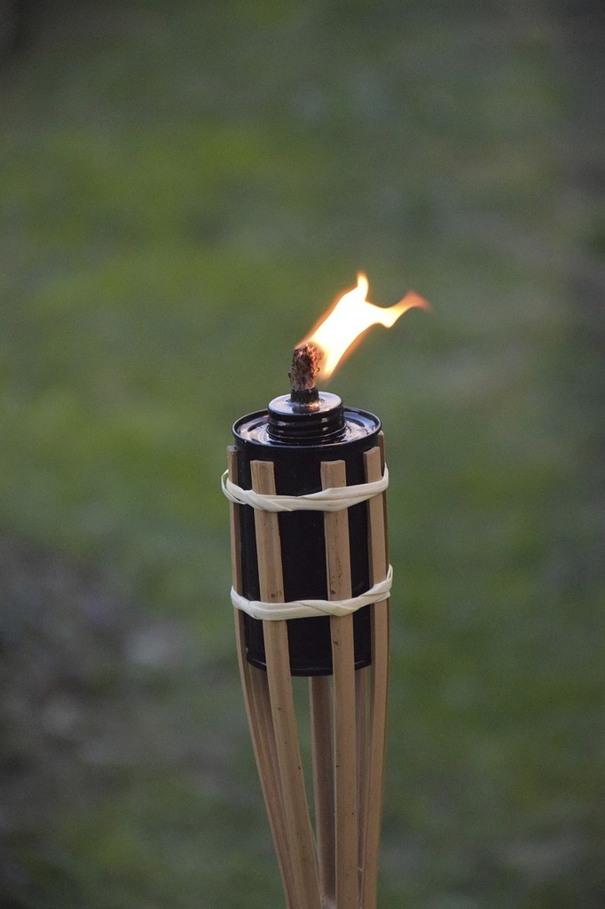 Torch flame fire.
