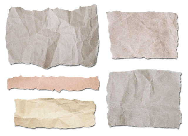 Torn paper collection, backgrounds textures.
