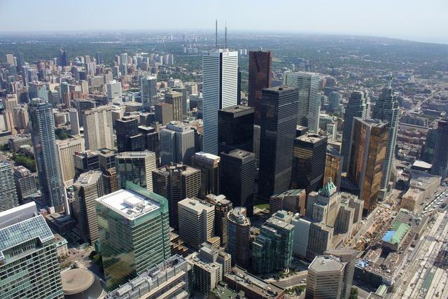 Toronto canada skyline, architecture buildings.