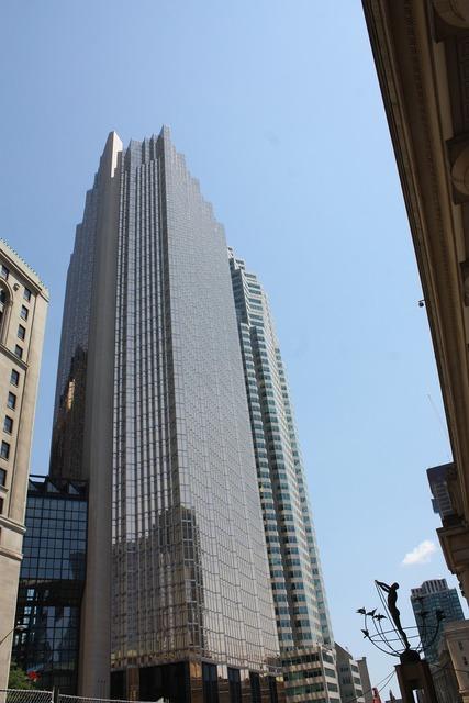 Toronto skyscraper skyline, architecture buildings.