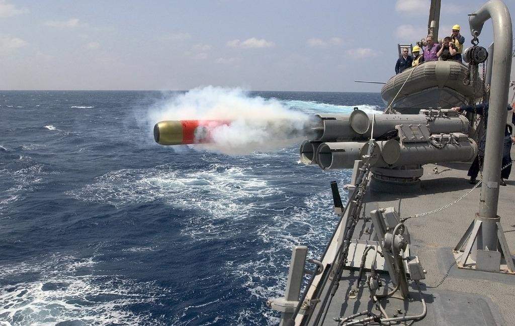 Torpedo launch weapon.