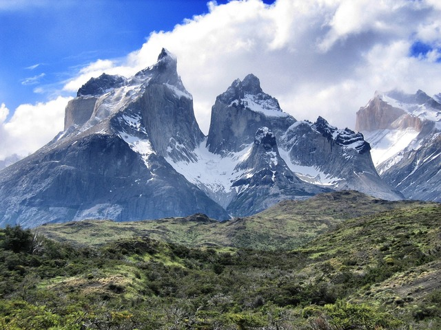 Torres del paine south america mountains.