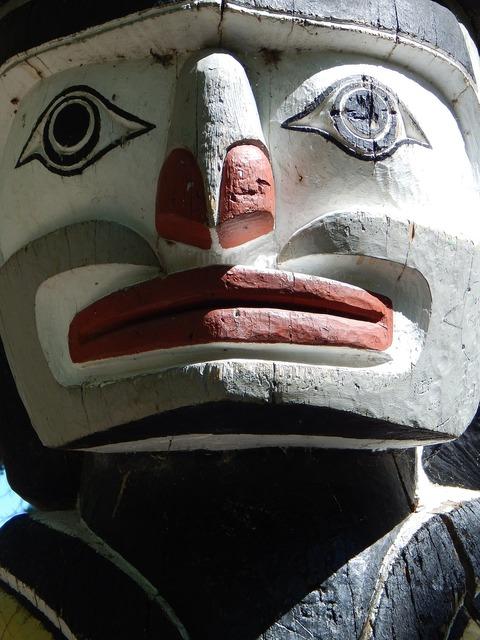Totem pole aboriginal art.