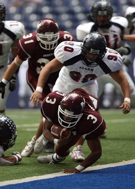 Touchdown american football running back, sports.