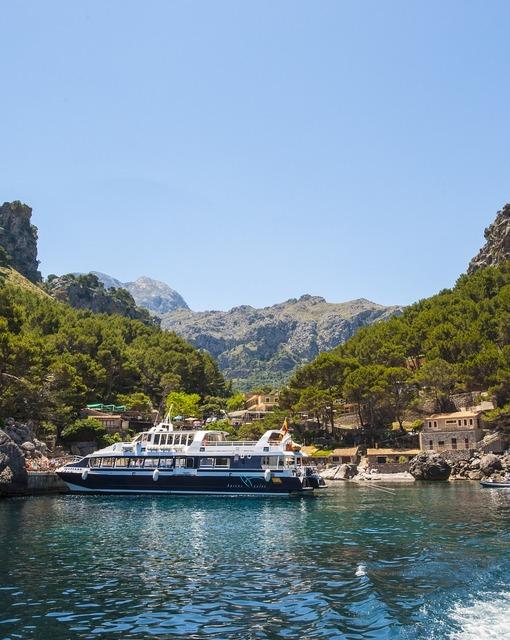 Tourist boat the calobra escorca.