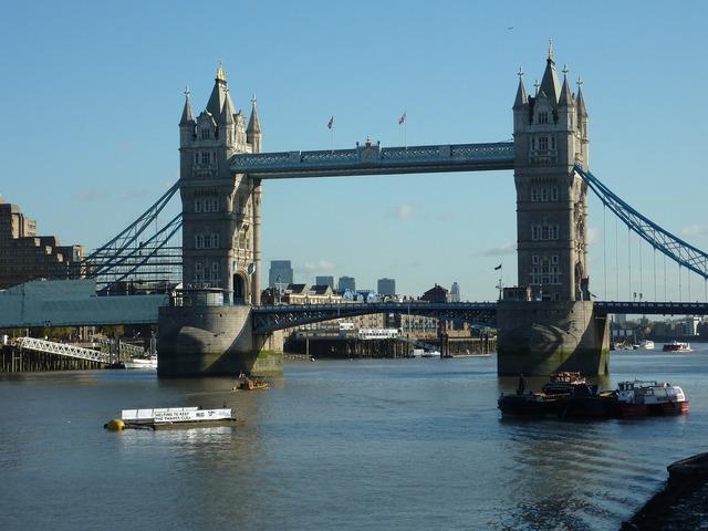 Tower bridge london river.