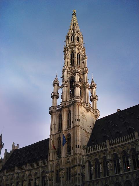 Tower brussels belgium, architecture buildings.