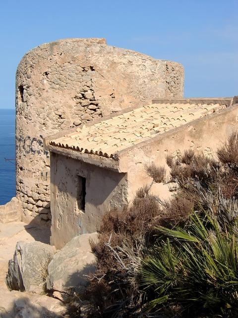 Tower cala en basset protection, architecture buildings.