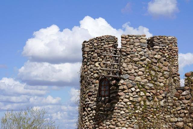 Tower castle lake dusia, architecture buildings.